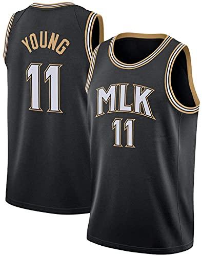 XZWQ Camiseta De Baloncesto NBA para Hombre: Hawks 11# Trae Young Camisetas De Baloncesto Unisex Cómodas Camisetas De Baloncesto De Malla Bordada Camiseta Sin Mangas,Negro,L
