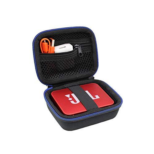Hart Reise Tasche Case für JBL GO/JBL GO 2 kleine Musikbox,Wasserfester portabler Bluetooth-Lautsprecher von GUBEE (Schwarz)