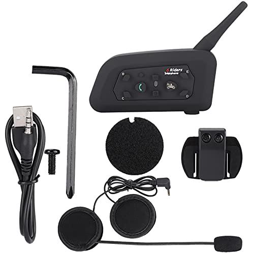 JICWNEW Casco Interfono Bluetooth Auricular 1200 metros Intercomunicador inalámbrico para los jinetes de la motocicleta