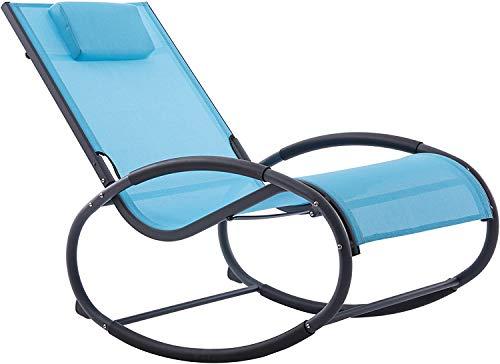 Vivere WAVEROCK1-NW Chaise à Bascule Aluminium Marine 122 x 61 x 91 cm