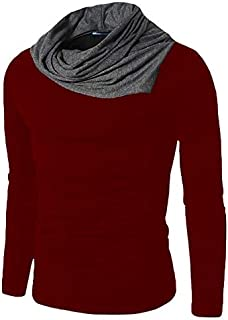 Leotude Full Sleeve Tshirt for Winter Muffler Style