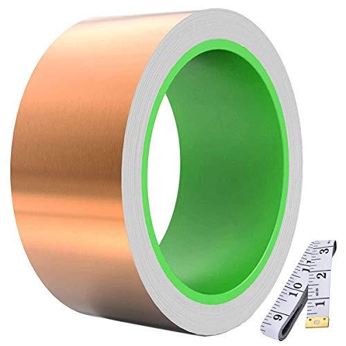 Youmile Cinta de lámina de cobre conductora de doble cara (50 mm...