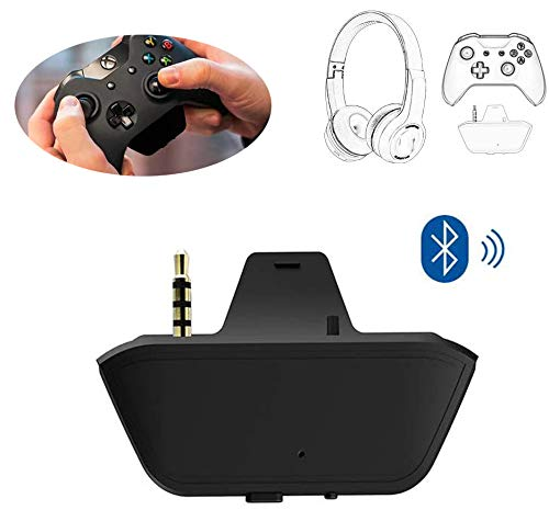 3.5mm Bluetooth Headset Audio Transmitter Adapter For Xbox One, Stereo Earphone Converter Compatible with Wireless Headset Headphone Speakers XB1 Controller Accessories Low Latency