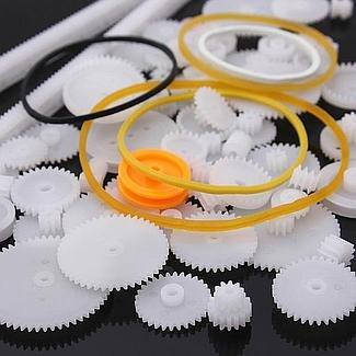 YUNIQUE FRANCE 60 Pieces Pack Different robotique (kit 60 Gear)
