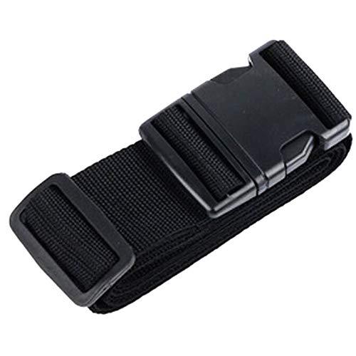 Xinlie Croce Cinghia per Valigie Bagaglio Cintura Sicurezza Viaggio Cinghia per il bagaglio (Croce a 2 vie) 200mm * 180mm * Larghezza del Cinturino 5mm(Nero)