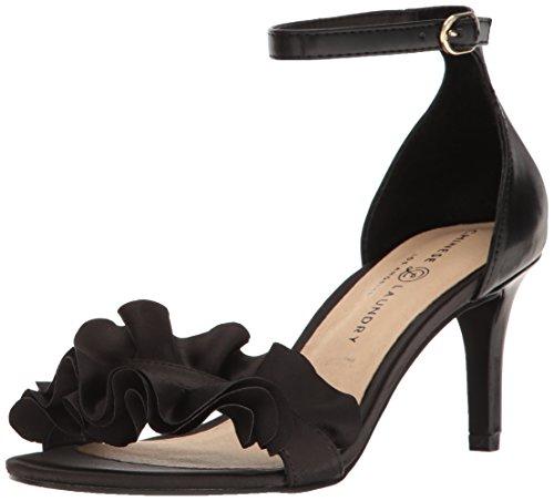 Chinese Laundry womens Remmy Dress Sandal, Black Satin, 7.5 US