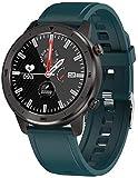 Reloj inteligente para hombres y mujeres, reloj deportivo, monitor de ritmo cardíaco, reloj inteligente, ejercicios aeróbicos, relojes de fitness para mujeres y hombres-silicio verde