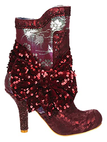 Irregular Choice Women's Rosie Lea Ankle Boot, Rose Red, 5.5
