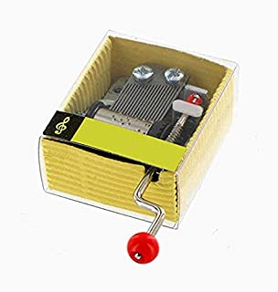 nero Clockwork Music Movement avvolgitore Edelweiss Wind Up Musical Movement for DIY carillon