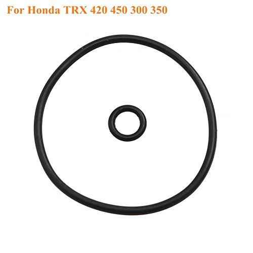 AUTOVIC 2pcs Oil Filter Cap O-Rings Oil Seals For Honda TRX300 Fourtrax ALL TRX420 FE/FM 07-17 TRX350 Rancher 2000-2006 TRX300 TRX420 TRX 420 450 300 350 FE/FM/TM/TE