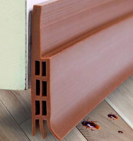 DERCLIVE Door Draft Stopper, Bottom Door Seal Door Sweep for Exterior/Interior Doors Under Door Draft Blocker Seal Soundproof Door Bottom Weather Stripping