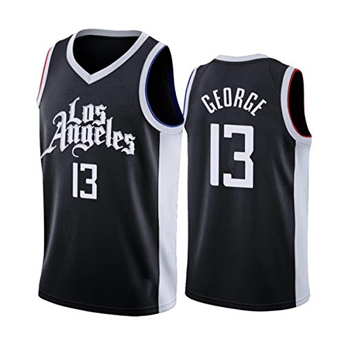 ATI-HSKJ Paul George 13# Maglie, Los Angeles Clippers Cool Tessuto Traspirante Swingman Senza Maniche Vest Top Abbigliamento,XXL(185~190cm/95~110kg)