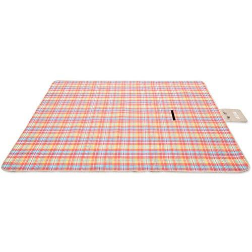 JYYA Stripes Picknickdecke im Freien mit wasserdichter Unterlage Strandteppichmatte - zusammenklappbar und tragbar Perfekt für Familiengrill, Reise, Plaid, 300x300cm (118x118in)