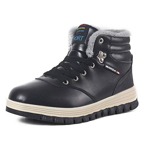 41MeHMU3rvL. SS500  - Winter Snow Boots Mens Hiking Footwear Waterproof Boots Warm Plush Walking Trekking Cosy Lace Up Boot Anti Slip