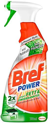 Bref Power - Spray Anti-Grasso e Bruciato, per Cucina, Camino e Forno, 750 ml