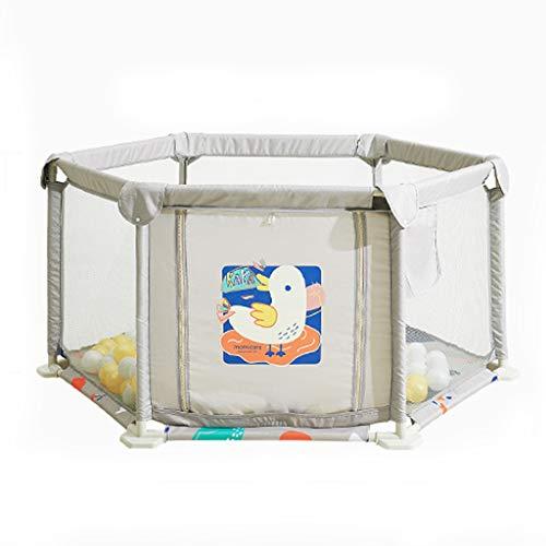 Barrière De Jeu Intérieure pour Enfants Parc De Sécurité pour Enfants Barrière Anti-Collision Aire De Jeux Intérieure Piscine À Balles Marine (Color : Gray, Size : 128X128X66.5CM)