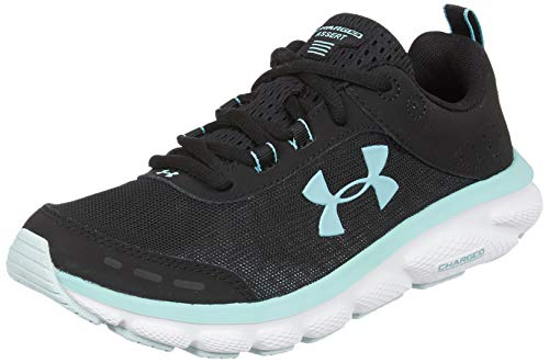 Under Armour Women's Charged Assert 8 Running Shoe, Black (001)/White, 9