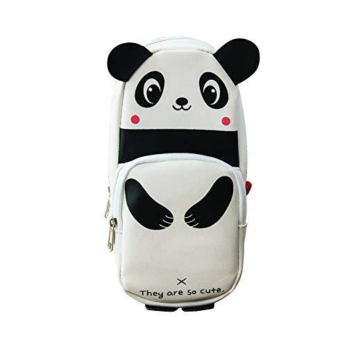 Apofly Panda Caja de lápiz de lápiz Creativa Linda del Bolso de la Pluma de la Bolsa Monedero Cepillo Organizador Titular de la Pluma de Gran Capacidad de papelería 19x9x6cm para Estudiantes