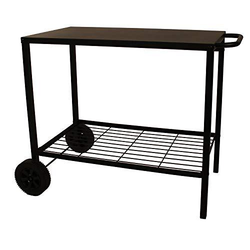 FAVEX Acier Chariot pour Plancha, Noir, 100x56x73 cm