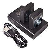 DSTE 2x EN-EL14 Repuesto Batería + Cargador USB dual con pantalla LCD Compatible para Nikon D3300,D3400,D5300,D5500,D5600,D3200,D5200,D5100,D3S Df,Coolpix P7000,P7100,P7700,Apretón de la batería BG-2G