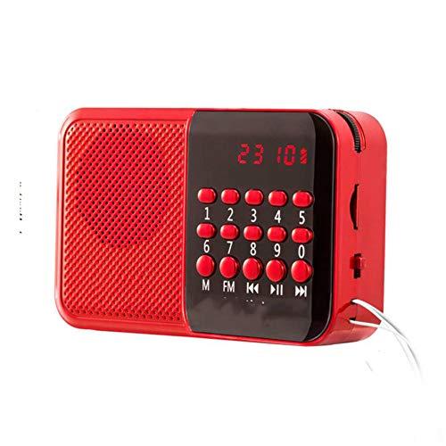 Handheld-digitaal display FM-radio mini-stereo luidspreker oplaadbare MP3-audio-speler draagbare USB-TF-muziekspeler voor oudere mensen