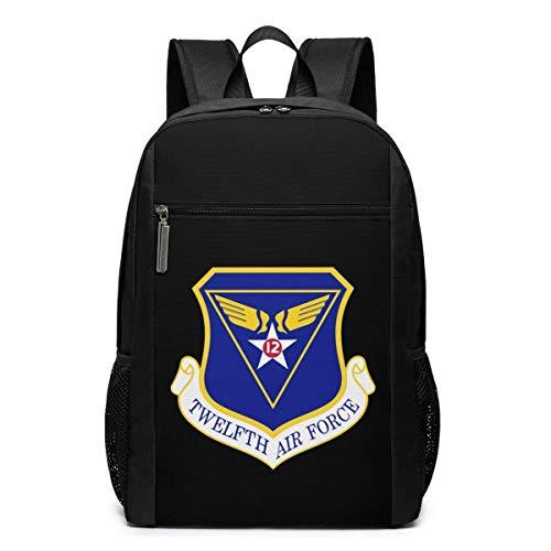 ZYWL US Army 12. Air Force Laptop Rucksack, Reiserucksäcke School College Bookbag für Frauen und Männer 17 Zoll