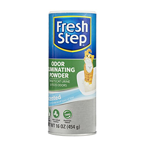 Fresh Step Cat Litter Box Odor Eliminating Powder | Cat Deodorizer For Litter Box, 16 Ounces