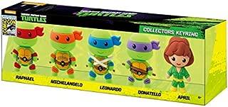 Nickelodeon 2015 SDCC Teenage Mutant Ninja Turtles 3D Foam Key Ring Set (5 Piece)