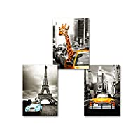 Car Prints Canvas Paintings Abstract Wall Art Pictures Poster for Living Room Home Decorative 40x60cmx3 Unframed