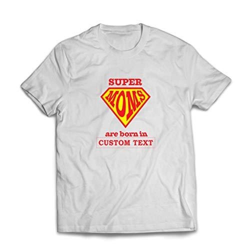 lepni.me Camisetas Hombre Regalo de cumpleaños Personalizado para Las Súper Mamás, Idea de Regalo Personalizado (Large Blanco Multicolor)