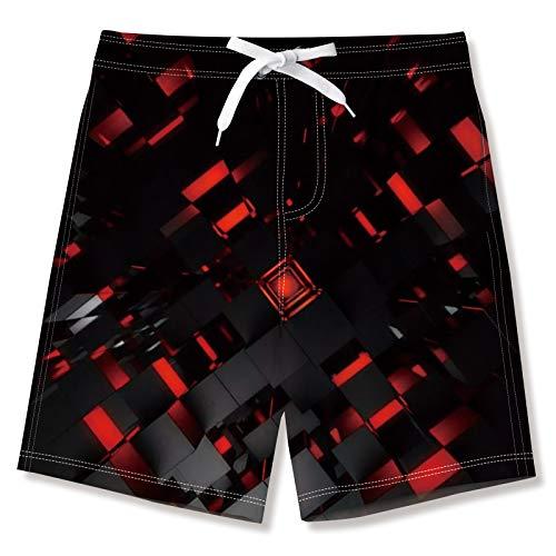 NEWISTAR Tronchi per la Spiaggia da Ragazzo di Costume da Bagno con Stampa Corti Pantaloncini Shorts per Bambini 12-14 Anni