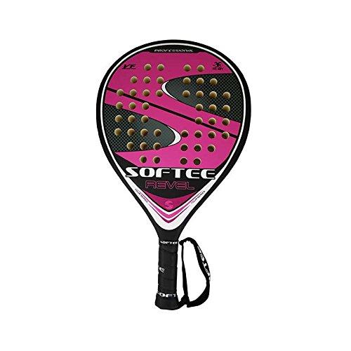Softee Equipment 0013867 Pelle Revel Raquette Badminton, Blanc, S