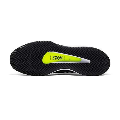 Nike Nikecourt Air Zoom Zero Cly, Scarpe da Tennis Uomo, Nero Bianco Volt, 46 EU