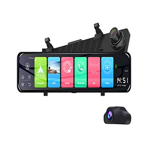12' 4G WiFi Android 8.1 Car DVR Rearview Mirror Dash Cam 2G+32G Navigation ADAS Video Recorder