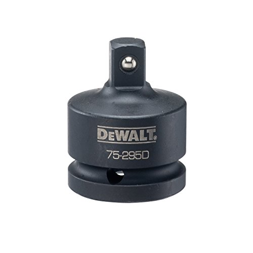 DEWALT Socket Adapter, Impact Rated, SAE, 3/4-Inch to 1/2-Inch Drive (DWMT75295B)