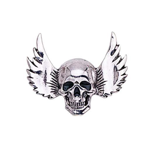 Cráneo Broche Skeleton 1pc Pin Pin con Alas Gótico Punk Broche De Regalo para Traje De Fiesta De Halloween