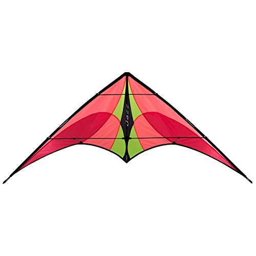 Jazz Dual-line Sport Kite, Fire, Ready to Fly with Flying Lines, Wrist Straps, Winder, Instructions and Storage Bag