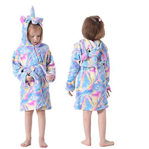 LEYUANA Peignoir de Bain à Capuche Arc-en-Ciel pour Enfants, pour garçons Filles Pyjamas Chemise de Nuit vêtements de Nuit pour Enfants 6 dreamstars