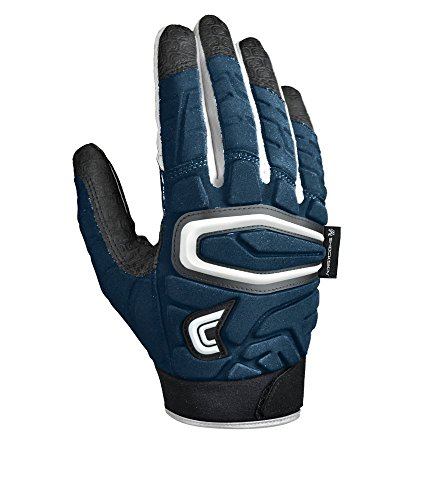 Cutters Handschuhe The ShockSkin Gamer Streamlined Handschuh für Erwachsene, Navy, Small