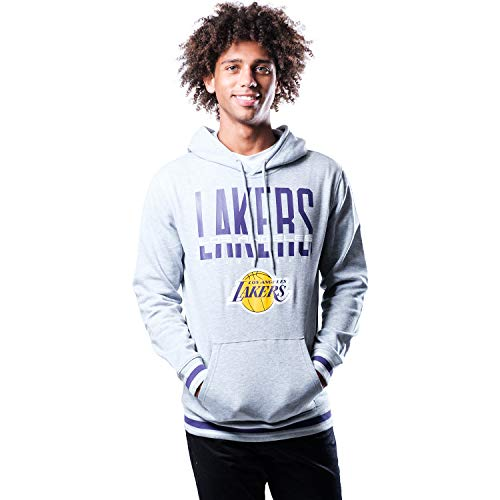 Ultra Game NBA Los Angeles Lakers Mens Focused Pullover Fleece Hoodie Sweatshirt, Team Color, XX-Large