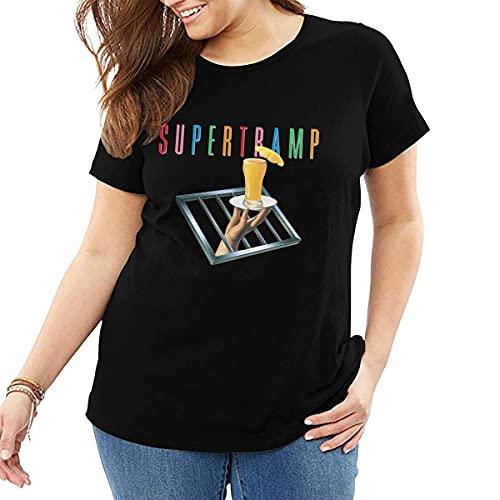 maichengxuan Supertramp - Camiseta de manga corta con cuello redondo y cuello redondo para mujer