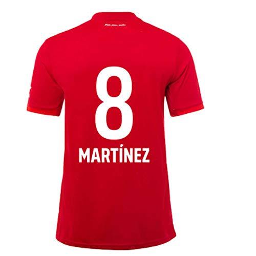 Martínez 8# Jersey del fútbol de los Hombres de la Camiseta de la Corto Mangas de Deporte para jóvenes Ropa Profesional de Secado rápido para absorción de Humedad t S