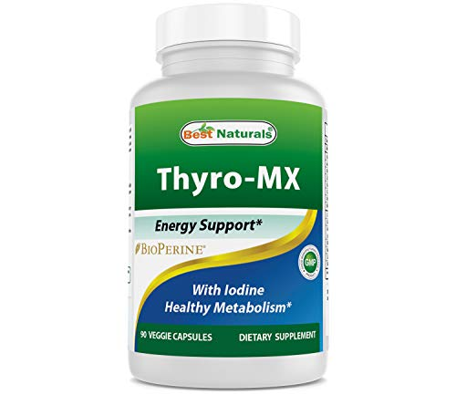Best Naturals Thyroid Support Supplement with Iodine 90 Veggie Capsules