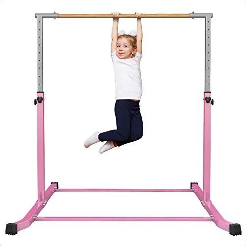 Gymnastics Bars for Kids Adjustable Height Gymnastic Junior Training Bar Gymnastics Horizontal Kip Bar Equipment for Home