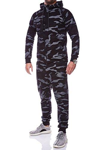MT Styles Trainingsanzug Camouflage Sportanzug R-715 [Schwarz, L]