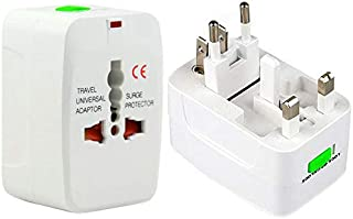 Plug Adapter Plug Adapter, Universal EU US UK AU Travel AC Power Adaptor Plug(White),It converts one country power plug to...