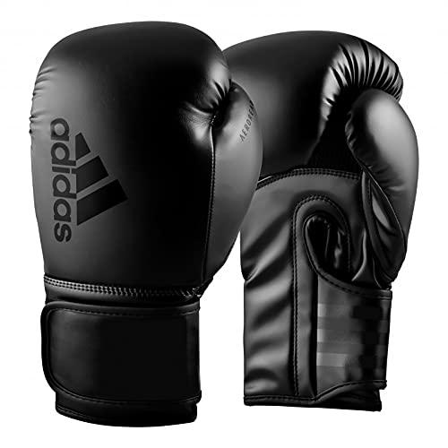 adidas Boxing Gloves - Hybrid 80 - for Boxing, Kickboxing, MMA, Bag, Training & Fitness - Boxing Gloves for Men & Women - Weight (12 oz, Black)