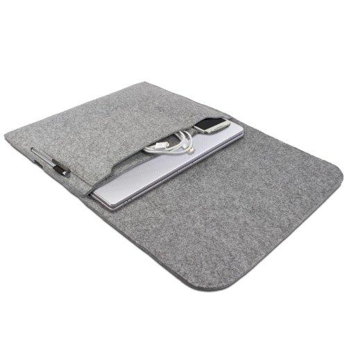 eFabrik beschermhoes voor Samsung Serie 5, 7, 9 | ULTRA notebooks | ATIV Books met 13,3 inch hoes Ultrabook Laptop Case Soft Cover Beschermhoes Sleeve Vilt lichtgrijs