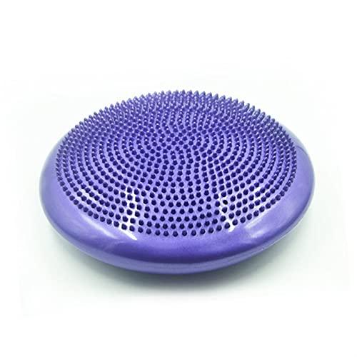 JSBAN 33 cm Unisex Balance Yoga Massage Kissen Matte aufblasbare Yoga wackeln stabilität Balance disc Massage Kissen Matte Yoga Fitness Ball (Color : Purple)