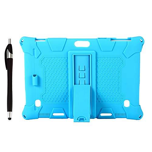 Beada Silikon HüLle für Teclast M30 PRO / M30 10,1 Zoll Tablet Schutz HüLle Tablet SttNder mit Stift Schlitz & Stift (Hell Blau)